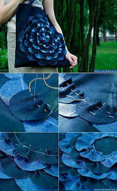 Джинсовая сумка-цветок своими руками | Эфария