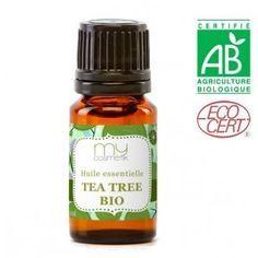 Huile essentielle de tea tree : Anti-infectieux, bactéricide , antifongique.Décongestionnant veineux, phlébotonique. Neurotonique. Radioprotecteur.