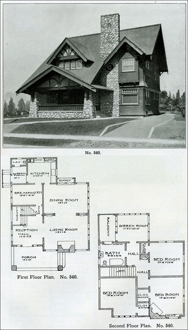 Old house plans are just so darn addicting. 1910.