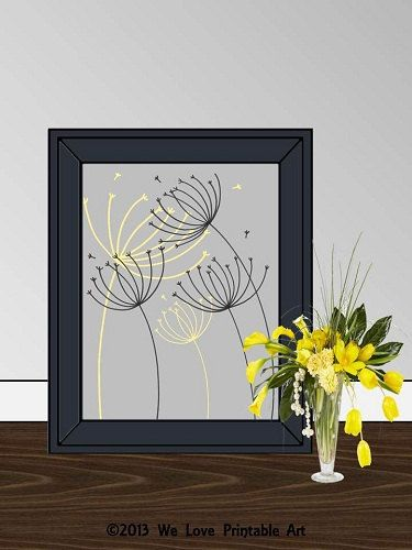 70 off sale dandelion art print dandelions art poster for Home decor 70 off