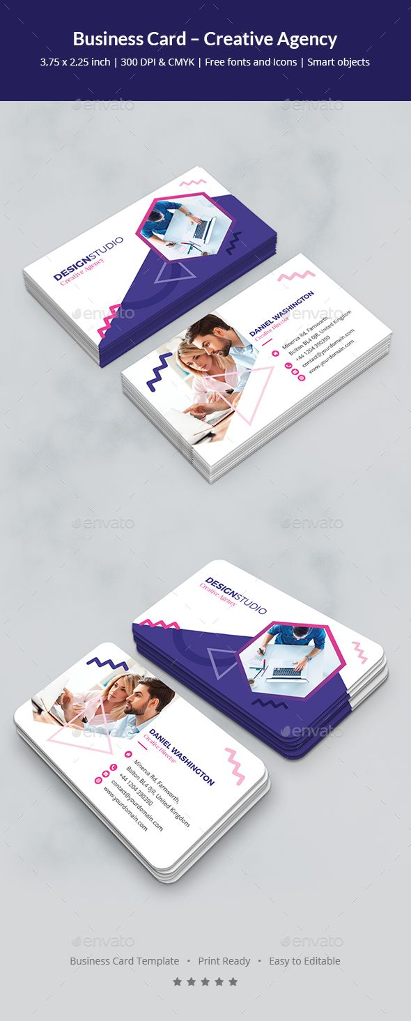Business Card – Creative Agency - Creative Business Cards