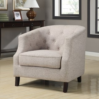 @Overstock - Ansley Trinity Stone Club Chair. This beautiful contemporary club chair adds an air of elegance and sophistication to any room that it is used in. The cream-colored fabric and espresso wood finish add to the class and comfort that this well-padded chair has to offer.http://www.overstock.com/Home-Garden/Ansley-Trinity-Stone-Club-Chair/5992062/product.html?CID=214117 $264.99