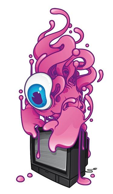 Bubble Gum Monster on TV - Aleix Gordo Hostau by Aleix Gordo Hostau, via Flickr