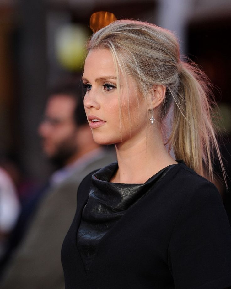 Claire Holt messy ponytail