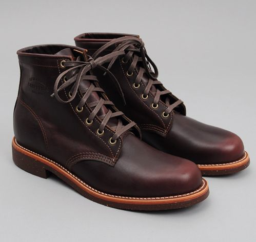 "CHIPPEWA: ""Original Chippewa"" 6"" Service Boot, Burgundy Leather"