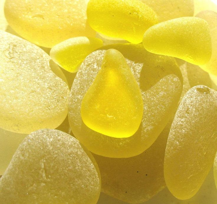 Yellow beach glass - i think this is primarily found in Scotland - never seen any on the Cali coast