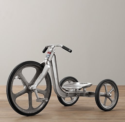 For Hard Rubber Tricycle Tires : Old school metal trike with modern materials aluminum