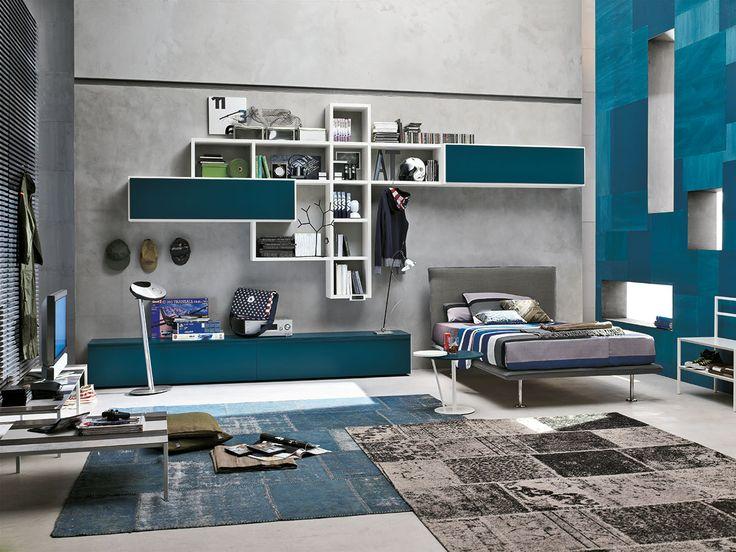 Composizione T15 con letto Bravo e tavolino Eclisse | gruppotomasella.it