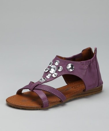 Take a look at this Purple Sparkle Sandal by COCO Jumbo on #zulily today!