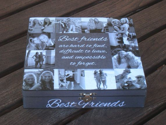 Best Friends Photo Collage Keepsake Box Unique Maid Of Honor Gift Personalized Sister Custom Birthday