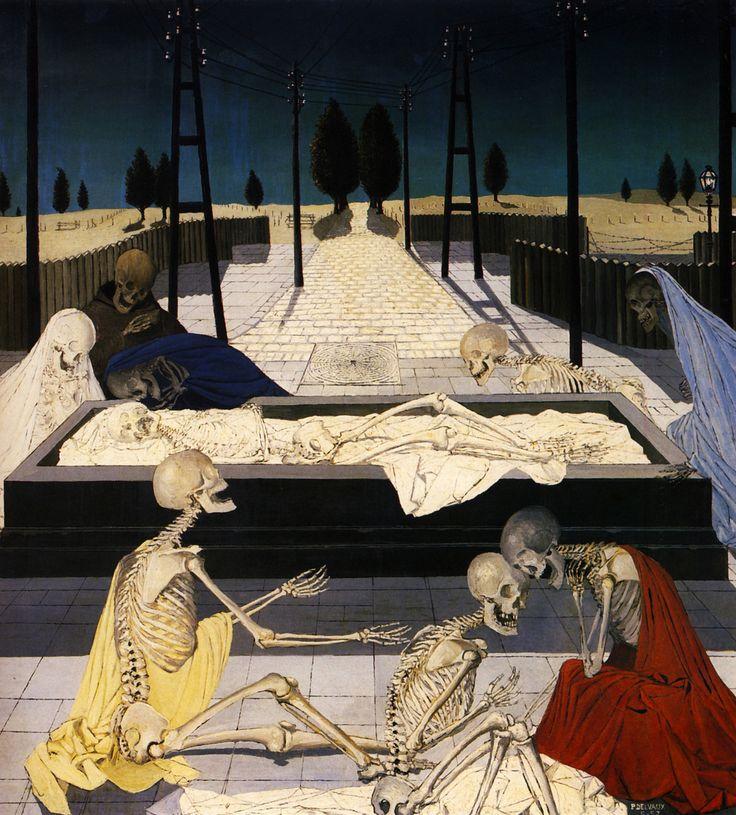 PAUL DELVAUX * 1897-1994 * Belgium ** Surrealism ** The Focus Tombs