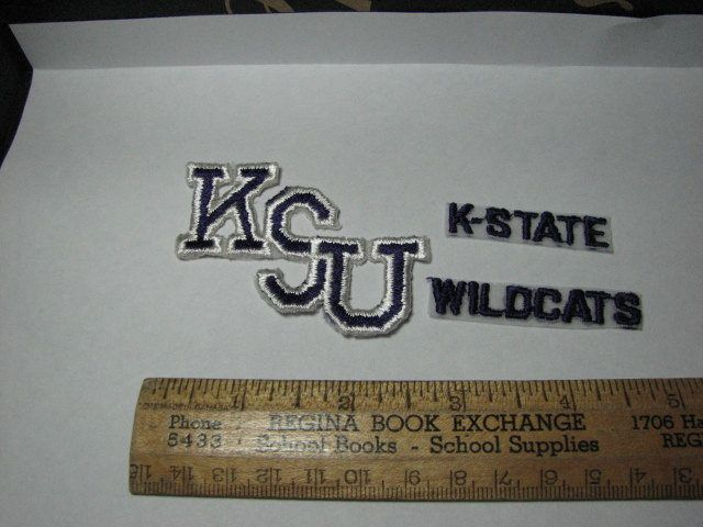 Kansas State University K-State Wildcats football patch by MajorVintageShop on Etsy