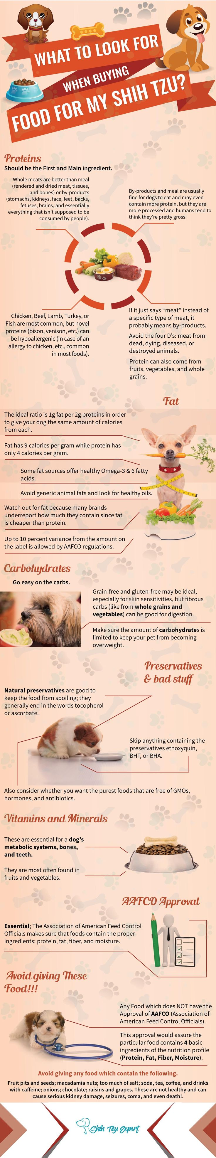 What To Look For When Buying Food For a Shih Tzu
