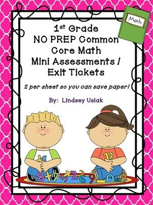 Lindsey's Classroom Creations  from  1st Grade NO PREP Common Core Math Mini…