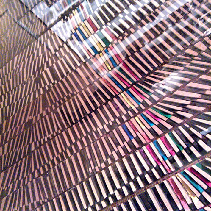 Colored Wood. Lines.