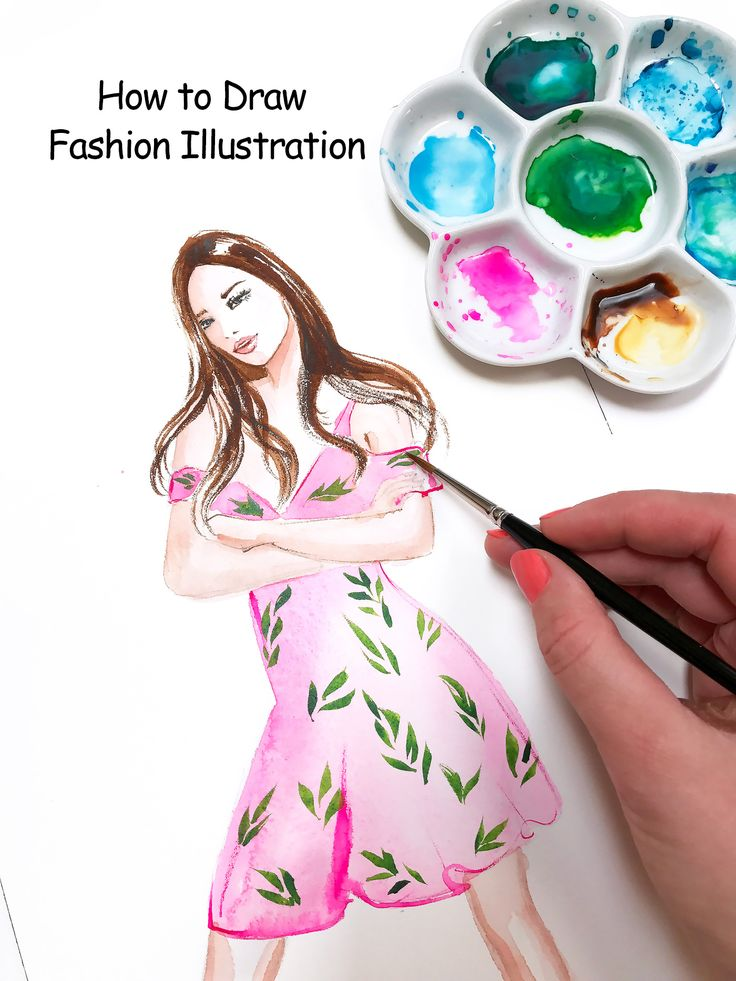 How to draw fashion illustration, online class with Elena Fay