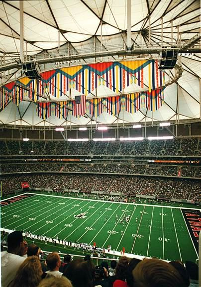 Georgia Dome - Only stadium I've been to for a football game AND a basketball game.