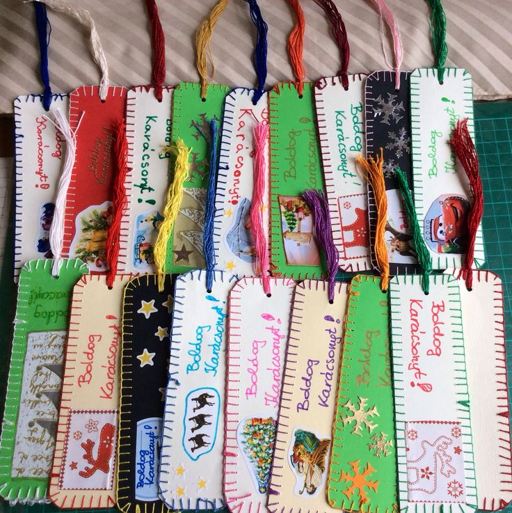 Bookmarks sewn for the 2017 charity fair by the class 5c