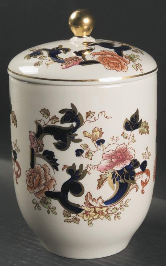 Masons Ironstone blue Mandalay storage jar.