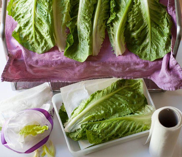 Τιπ για να διατηρούμε το μαρούλι φρέσκο - Tip for keeping lettuce fresh (in Greek). www.thefoodiecorner.gr