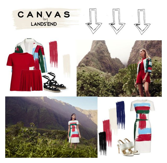 """""""Paint Your Look With Canvas by Lands' End: Contest Entry"""" by littlelook on Polyvore featuring Lands' End and Canvas by Lands' End"""