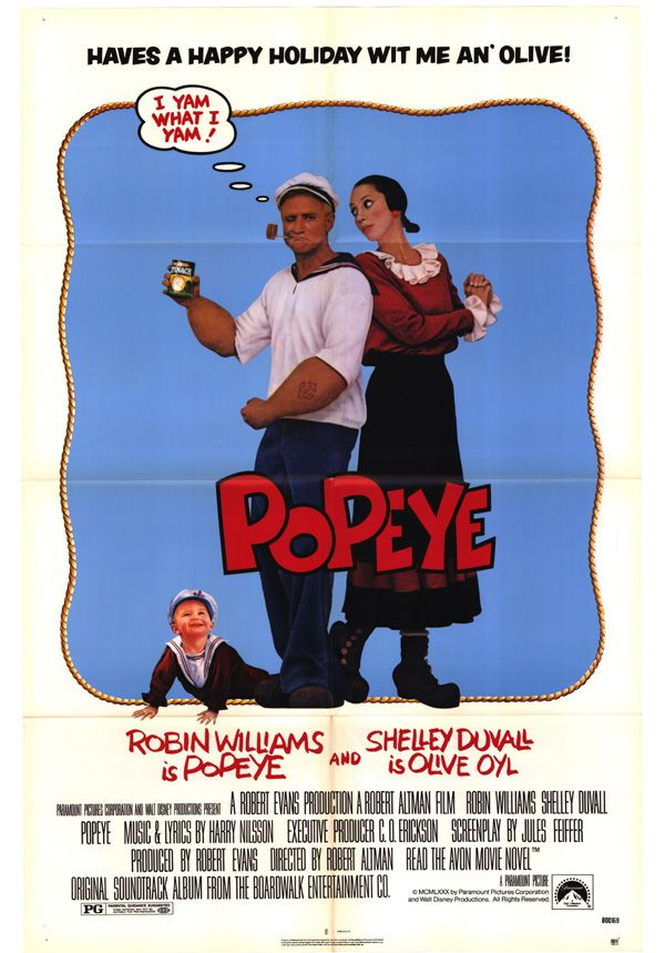 robin williams movie posters | Popeye Movie Poster Folded 27x41 Robin Williams | eBay