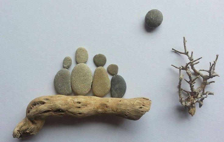 Bild aus Kieselsteinen *Familie* von TAMIKRA auf DaWanda.com