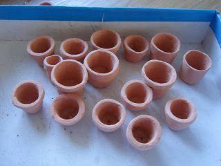 My little little dream: Глиняные горшки. Сlay pots.