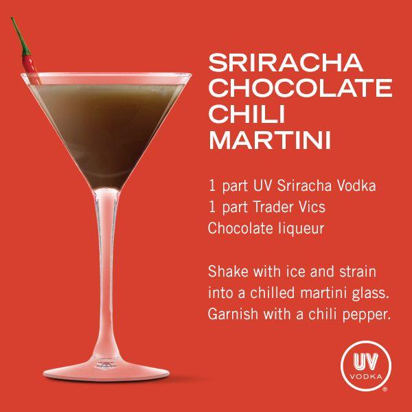 UV Vodka Recipe: Sriracha Chocolate Chili Martini