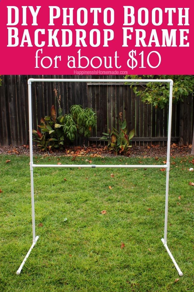 DIY photo booth back drop framing                                                                                                                                                      More