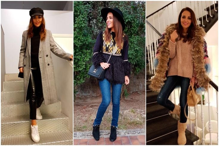 Stradivarius, la marca favorita de Paula Echevarría para sus looks de invierno con abrigo, jeans, jersey y sombrero