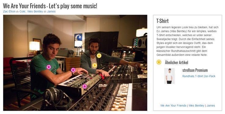 Um seinem legeren Look treu zu bleiben, hat sich DJ James (Was Bentley) für ein simples, weißes T-Shirt entschieden, welches er unter seiner Sweatjacke trägt. Durch die Einfachheit seines Styles ergibt sich ein lässiges Outfit, das dem jungen Musiker hervorragend steht. Ein klassischer Rundhalsausschnitt gibt dem Gesamtbild außerdem eine relaxte Note.