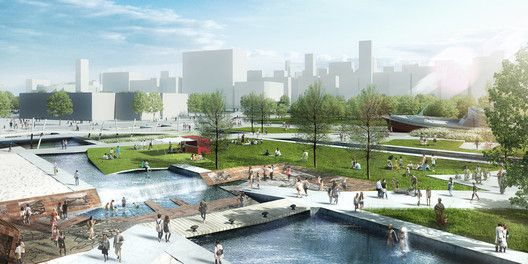 SYNWHA Consortium Wins Competition to Design Waterfront Park for Busan North Port,North Port Story Memorial. Image Courtesy of SYNWHA Consulting