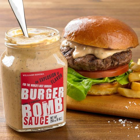 Burger Sauce - This is soo good!!! Burger Bomb Sauce Mayonnaise, vinegar, water, salt, sugar, lemon juice, dill pickles, garlic, ketchup, spicy brown mustard, Worcestershire sauce, cayenne pepper, jalapeño, & black pepper