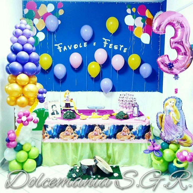 #dolcemania #palloncini #puglia #italia #rapunzel #disney #disneyprincess #balloons #sweettable #italy #gargano #balloon #table #raperonzolo #compleanno #birthday #festa #foggia #gargano #idea #tre #torre #treccia #ballonart