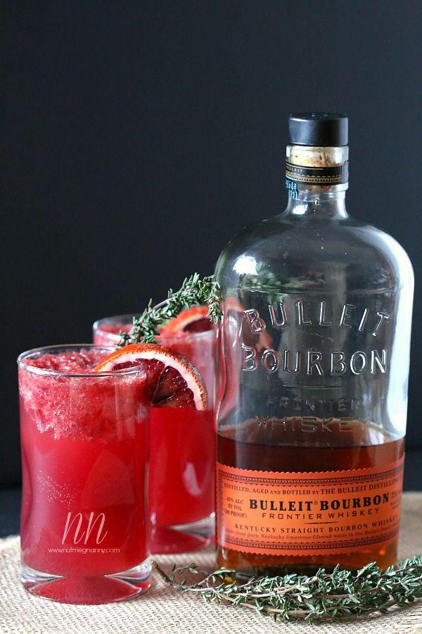 Thyme Blood Orange Bourbon Cocktail | Nutmeg Nanny