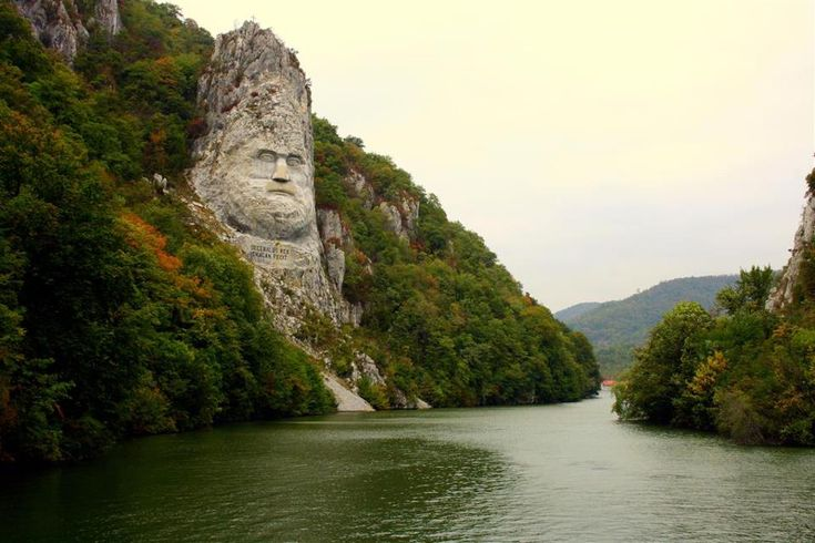 Statue of Decebal on the Danube River, Romania