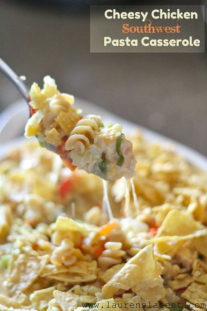 Cheesy Chicken Southwest Pasta Casserole