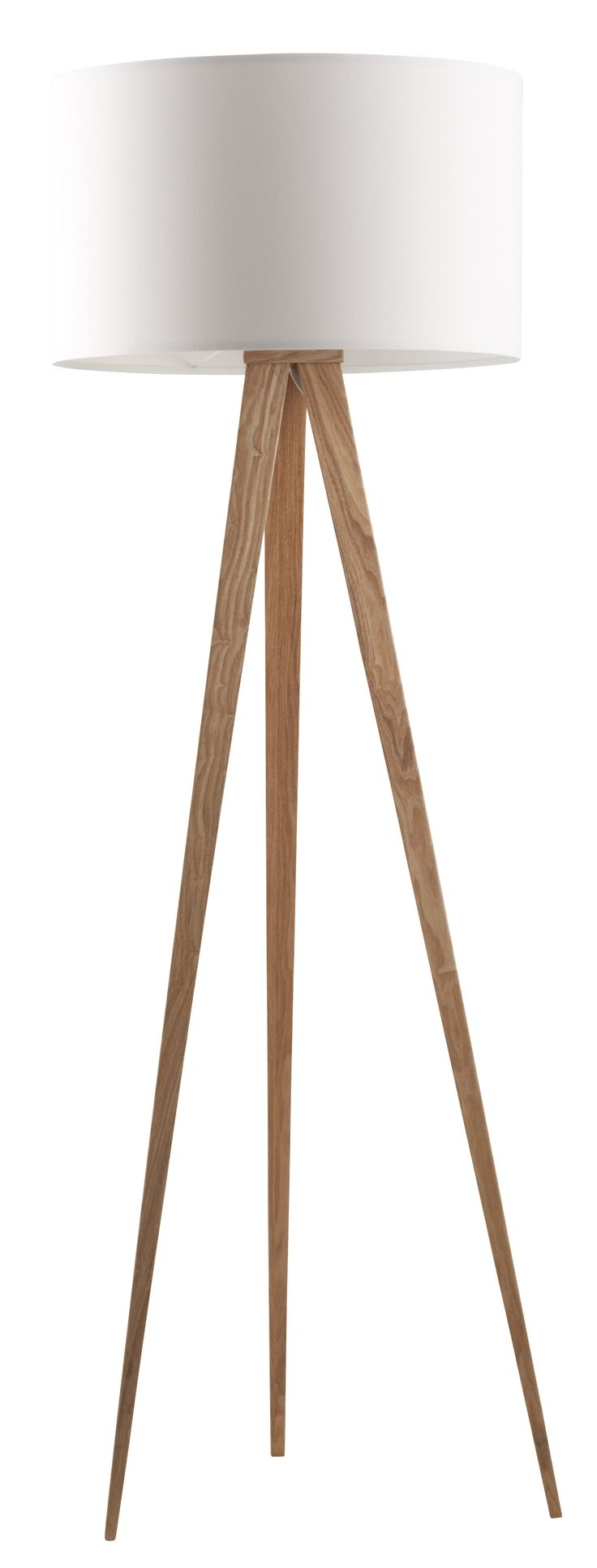 Tripod wood floor lamp of Zuiver