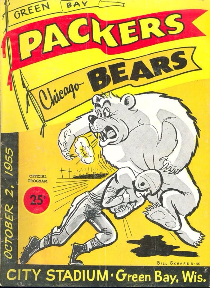 Packers vs Bears 1955 program.