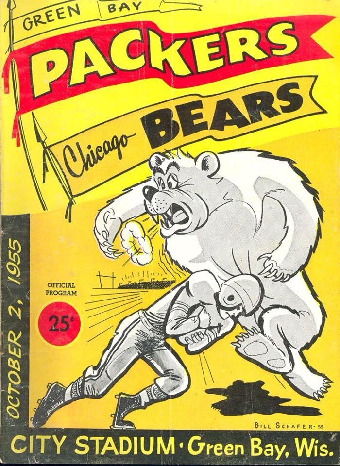 Packers vs Bears 1955 program.