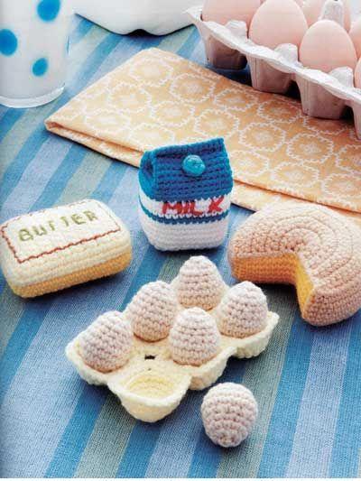 dairy amigurumi patterns Food Amigurumi - Ice Box Crochet - Crochet Pretend Play Food
