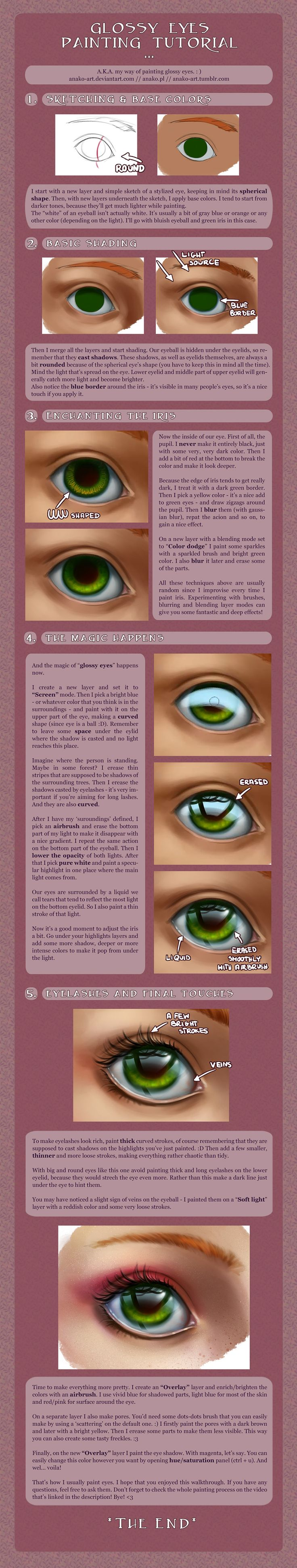 glossy eye tutorial - with a VIDEO! (edit!) by anako-art.deviantart.com on @deviantART