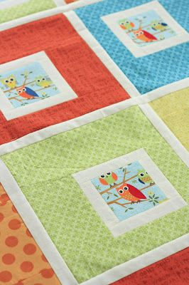 Project 12 Quilts: Little Owls baby quilt pattern / tutorial