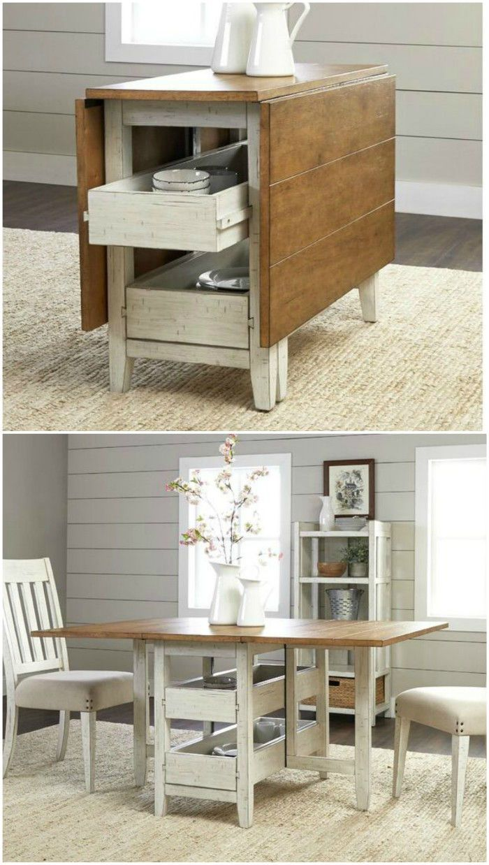 A Storage Kitchen Island And Dining Table In One With A Beautiful
