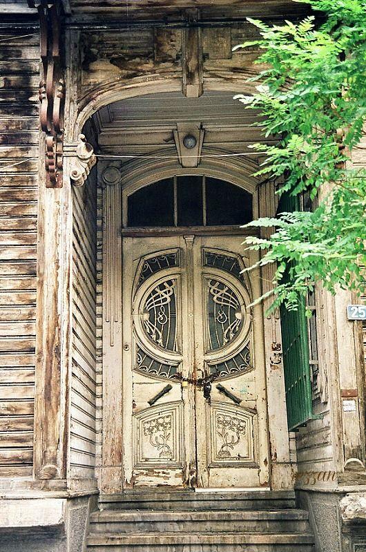 Art Nouveau door in Istanbul, Turkey. Photo by Rezzan Akın