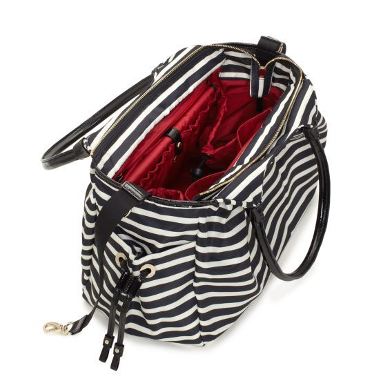 kate spade | designer diaper bags - nylon stripe stevie baby bag