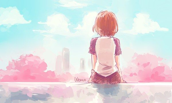 Anime picture original wernozaur girl short hair solo highres 2500x1500 274345 en