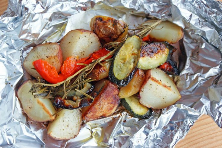Grilled veggie packets