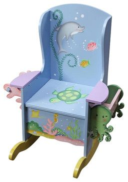 Teamson Kids Under the Sea Hand Painted Potty Chair transitional-rocking-chairs-and-gliders